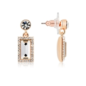 Rose Gold Crystal Drop Earrings by August Woods