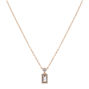 August Woods Rose Gold Crystal Pendant Necklace