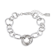 August Woods Silver Trio Knotted Sparkle Bracelet