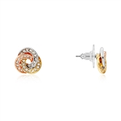 August Woods Mixed Metal Knotted Sparkle Stud Earrings