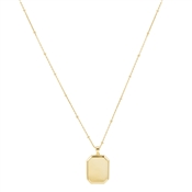 Argento Gold Tag Engraving Necklace