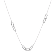 Argento Silver Crystal Links Long Necklace
