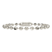 Rebecca My World Silver Milled Ball Bracelet