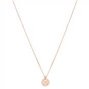 Argento Rose Gold Crystal Disc Necklace