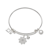 Karma Silver Just Breathe Bangle