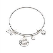 Karma Silver Mother & Daughter Bangle