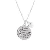 Karma Silver Mother & Daughter Necklace