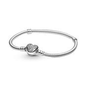 Pandora Disney Moments Mickey Mouse Heart Clasp Bracelet