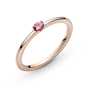 Pink Solitaire Ring by Pandora