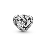 Sparkling Entwined Hearts Charm by Pandora
