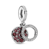 Sparkling Red Disc Double Charm by Pandora