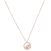 Argento Rose Gold Leaf Necklace