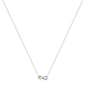 Argento Silver Rainbow Infinity Necklace