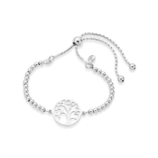 Argento Silver Tree Of Life Pull Bracelet