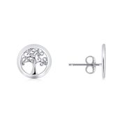 Silver Tree Of Life Earrings  by Argento