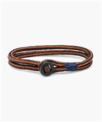 Pig and Hen Don Dino Navy Maple Orange Bracelet