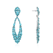 August Woods Aqua Sparkle Statement Earrings