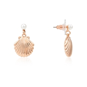 August Woods Rose Gold Pearl Shell Drop Earrings