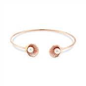 August Woods Rose Gold Pearl Shell Bangle