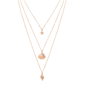 August Woods Rose Gold Layered Seaside Necklace