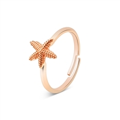 August Woods Rose Gold Starfish Adjustable Ring