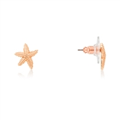 August Woods Rose Gold Starfish Earrings