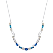 August Woods Blue Pastel Pop Statement Necklace