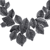 August Woods Silver Leaves Statement Necklace