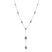 August Woods Silver Pastel Pop Drop Necklace