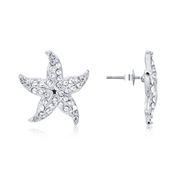 Dirty Ruby Silver Starfish Earrings