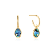 Ania Haie Tidal Abalone Mini Hoop Earrings