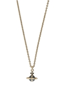 Vivienne Westwood Gold Montana Mayfair Bas Relief Orb Necklace