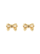 Gold Petite Bow Earrings by Ted Baker