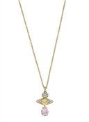 Vivienne Westwood Gold + Turquoise Crystal Ismene Drop Necklace