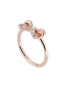 Ted Baker Rose Gold Petite Crystal Bow Ring