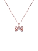Ted Baker Rose Gold Petite Crystal Bow Necklace