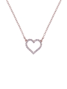 Ted Baker Rose Gold Crystal Lendra Heart Necklace