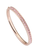Rose Gold + Pink Crystal Clemara Bangle  by Ted Baker