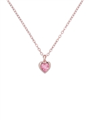 Ted Baker Rose Gold + Pink Crystal Heart Necklace