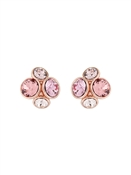 Rose Gold + Pink Cluster Earrings by Ted Baker