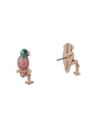 Vivienne Westwood Rose Gold Alicia Parrot Earrings