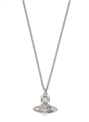 Vivienne Westwood Silver Crystal Chloris Bas Relief Necklace