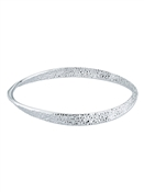 Ted Baker Silver Hammered Hoop Bangle