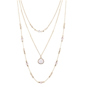 August Woods Gold Stone Layered Necklace