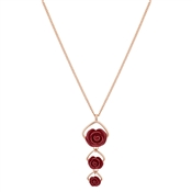 August Woods Rose Gold Triple Rose Bud Necklace