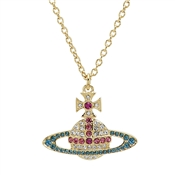 Vivienne Westwood Gold Candy Crystal Kika Necklace