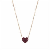 Nomination Rose Gold & Red Crystal Heart Easychic Necklace