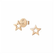 Nomination Rose Gold Stardust Open Star Earrings
