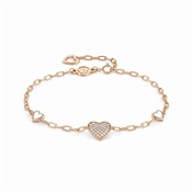 Rose Gold Vita Hearts Bracelet  by Nomination