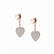 Nomination Rose Gold Vita Hearts Earrings